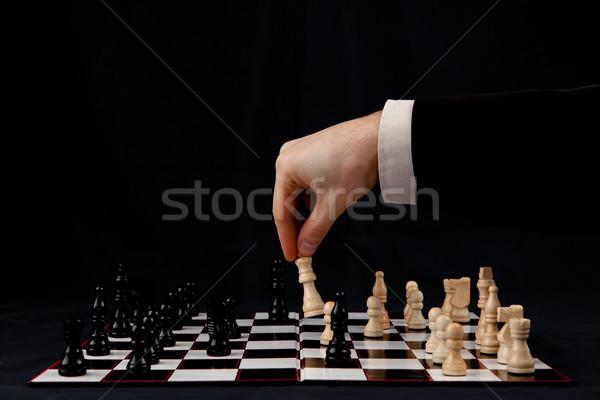人 演奏 チェス 黒 シャツ ゲーム ストックフォト © wavebreak_media