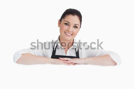 笑顔の女性 腕 着用 エプロン 白 ストックフォト © wavebreak_media