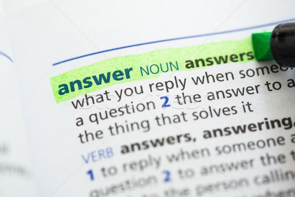 ответ определение зеленый информации письма изучения Сток-фото © wavebreak_media