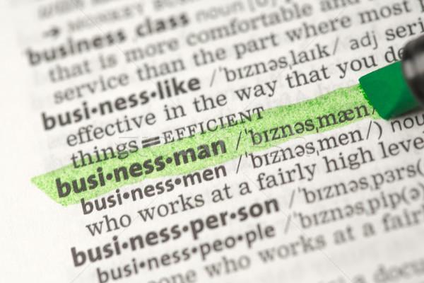 Imprenditore uomini d'affari informazioni studiare conoscenza dizionario Foto d'archivio © wavebreak_media