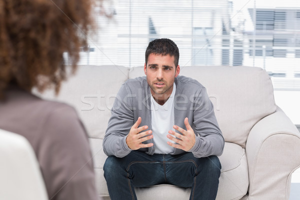 Man telling therapist his problems Stock photo © wavebreak_media