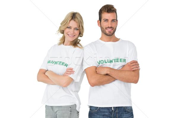 肖像 2 幸せ ボランティア 手 立って ストックフォト © wavebreak_media