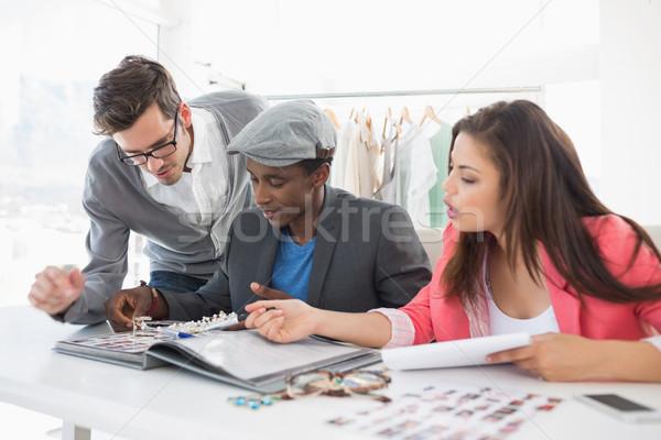 Divat megbeszél dizájnok csoport stúdió üzlet Stock fotó © wavebreak_media