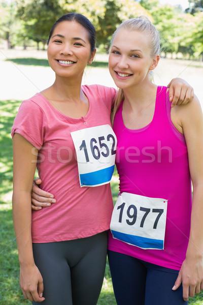 Participantes câncer de mama consciência retrato feliz Foto stock © wavebreak_media