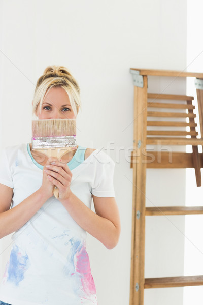 женщину кистью лице портрет Сток-фото © wavebreak_media