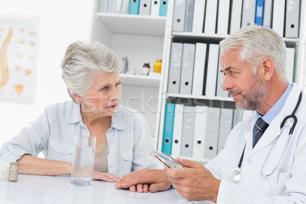 Female senior patient visiting a doctor Stock photo © wavebreak_media
