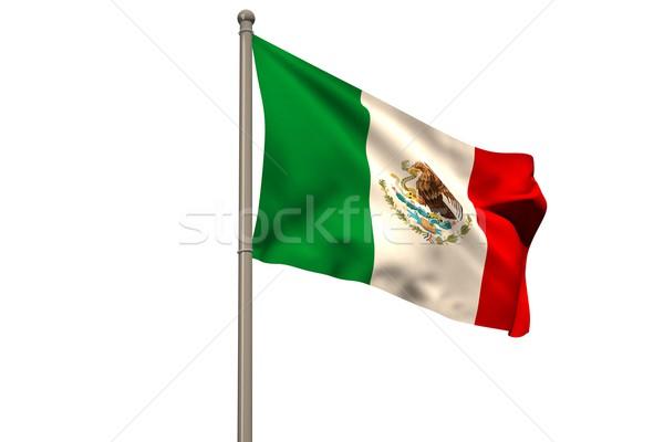 Cyfrowo wygenerowany Meksyk banderą biały Zdjęcia stock © wavebreak_media