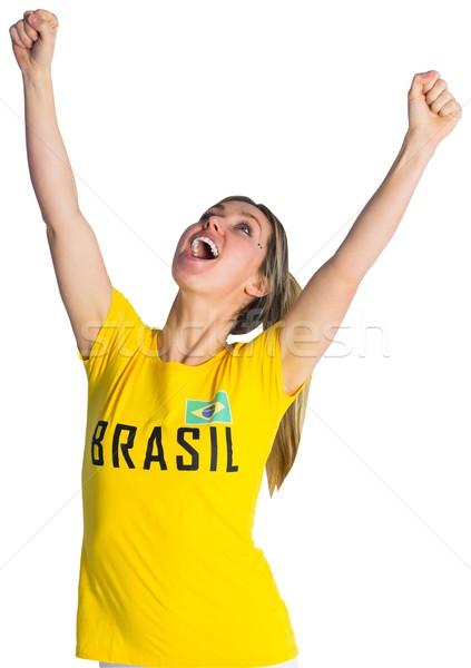 довольно футбола вентилятор футболки белый Сток-фото © wavebreak_media