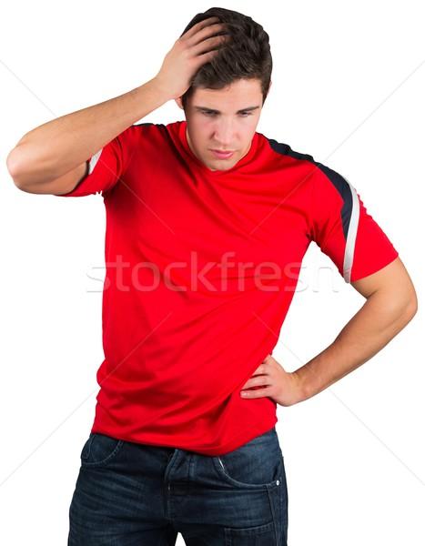 失望した サッカー ファン 赤 白 エネルギー ストックフォト © wavebreak_media