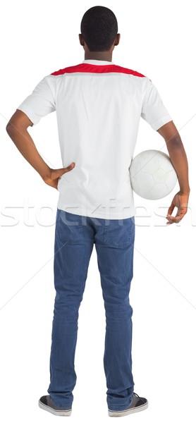 Futbol fan beyaz top enerji Stok fotoğraf © wavebreak_media