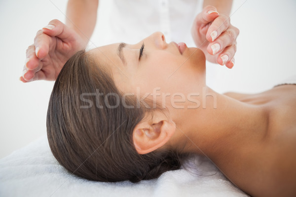 красивой брюнетка Рейки терапии женщину Сток-фото © wavebreak_media