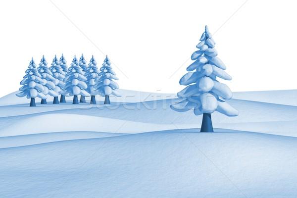 Abeto árboles paisaje blanco forestales hielo Foto stock © wavebreak_media