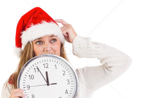 Photo stock: Horloge · blanche · temps