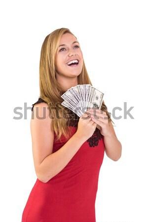 Bella contanti bianco soldi Foto d'archivio © wavebreak_media