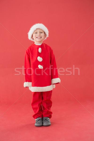 Bonitinho pequeno menino traje vermelho Foto stock © wavebreak_media
