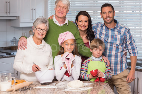 Multi-generation family baking together Stock photo © wavebreak_media