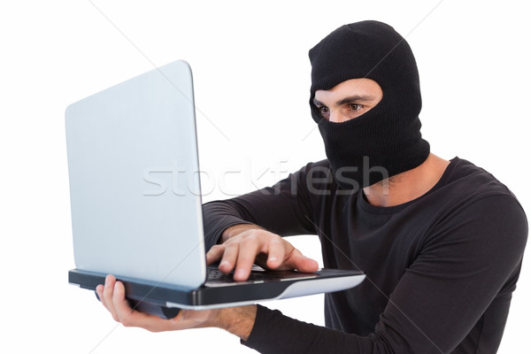 грабитель ноутбука белый человека Сток-фото © wavebreak_media