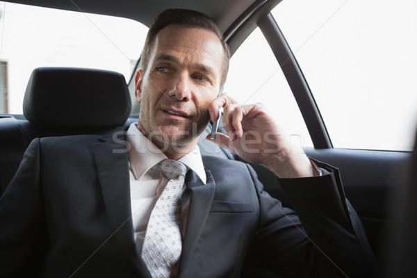 Knap zakenman telefoongesprek auto business Stockfoto © wavebreak_media