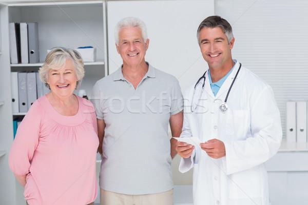 счастливым врач Постоянный клинике портрет Сток-фото © wavebreak_media