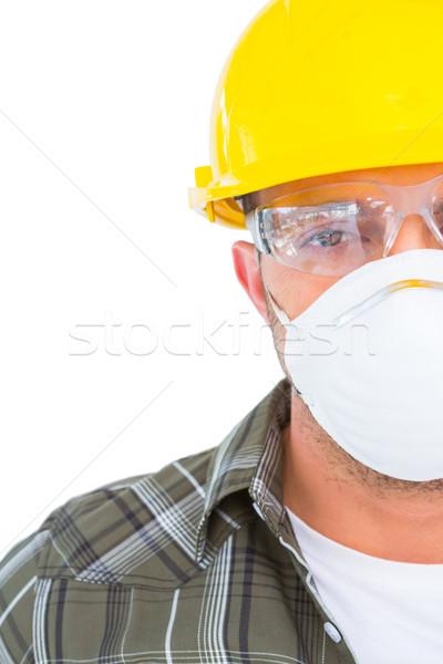 Handyman wearing protective work wear Stock photo © wavebreak_media