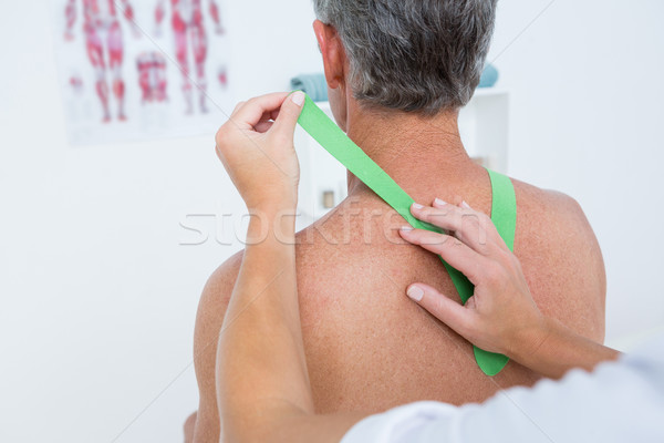 Arzt Patienten Schulter medizinischen Büro Stock foto © wavebreak_media