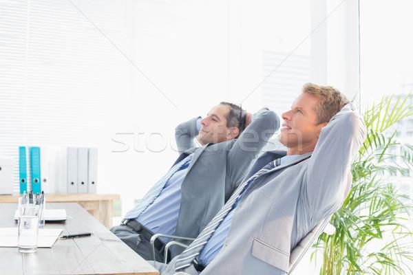 Thoughtful businessmen looking away Stock photo © wavebreak_media
