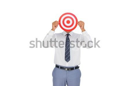 Handsome businessman holding target  Stock photo © wavebreak_media