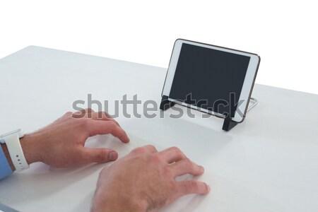 врач мобильного телефона белый экране женщину Сток-фото © wavebreak_media