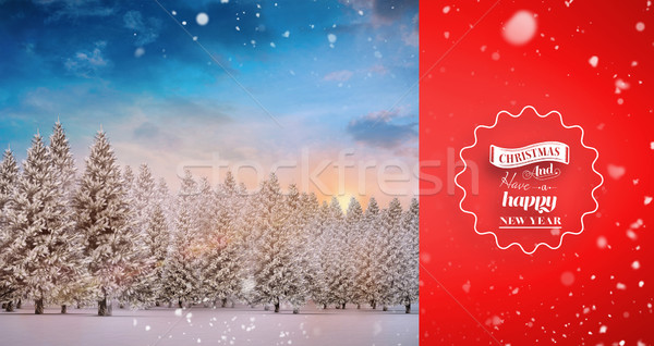Composite image of snow falling Stock photo © wavebreak_media