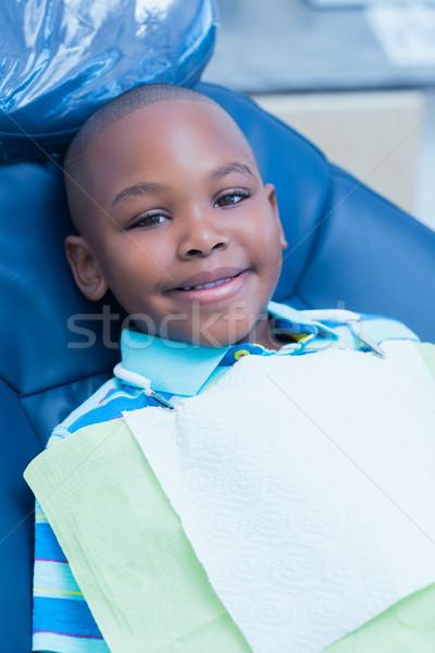 Portré fiú vár fogászati vizsga mosolyog Stock fotó © wavebreak_media