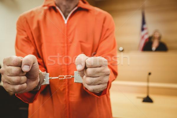 Stock fotó: Fogoly · bilincs · bíróság · szoba · nő · törvény