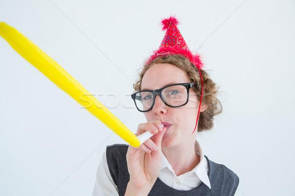 Partij hoed pruik Stockfoto © wavebreak_media