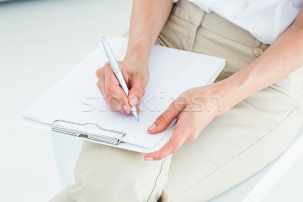 セラピスト メモを取る 白 女性 ソファ プロ ストックフォト © wavebreak_media