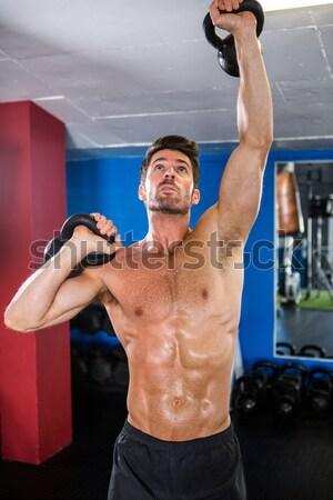 Young bodybuilder cheering Stock photo © wavebreak_media