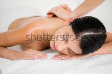 Mulher sal massagem Foto stock © wavebreak_media