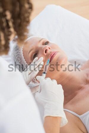 Stok fotoğraf: Genç · kadın · ayak · masaj · tedavi · oda · kadın