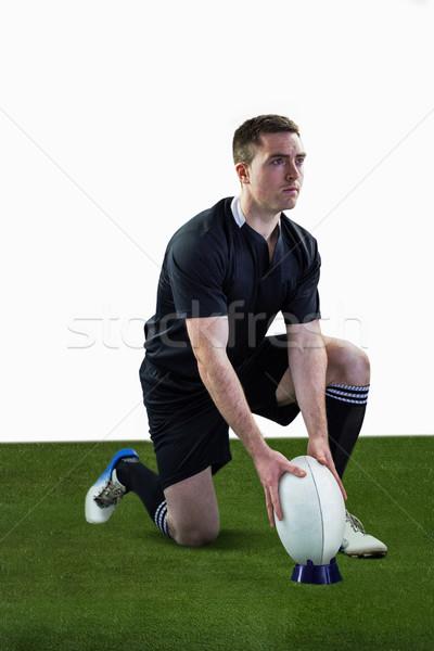 ラグビー プレーヤー 準備 ドロップ キック ストックフォト © wavebreak_media