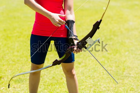 画像 スポーツウーマン アーチェリー 公園 ストックフォト © wavebreak_media