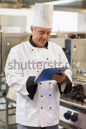 Portré mosolyog szakács áll keresztbe tett kar kereskedelmi Stock fotó © wavebreak_media