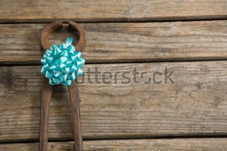 High angle view of hammer decorated with ribbon Stock photo © wavebreak_media