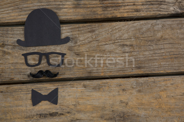 Overhead view of anthropomorphic face on table Stock photo © wavebreak_media