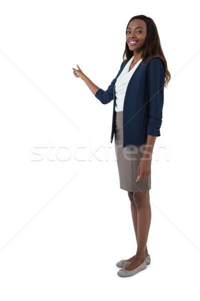 Tam uzunlukta portre işkadını tanıtım beyaz kadın Stok fotoğraf © wavebreak_media