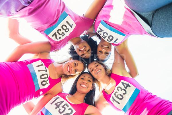 Cinquième souriant coureurs cancer du sein marathon portrait Photo stock © wavebreak_media