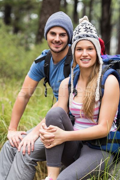 Portrait of a young smiling hiker couple Stock photo © wavebreak_media