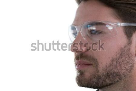 Człowiek okulary biały ekranu informacji Zdjęcia stock © wavebreak_media