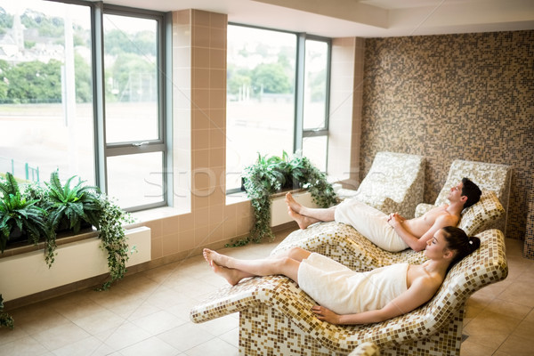 Couple relaxing in the thermal suite Stock photo © wavebreak_media
