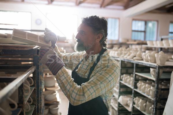 мужчины продукт шельфа Керамика семинар бизнеса Сток-фото © wavebreak_media