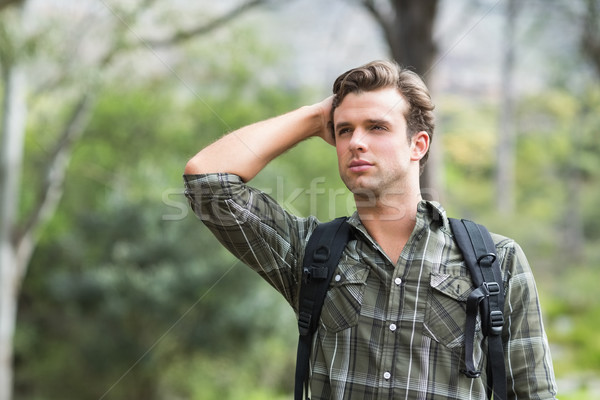 Young man looking away in forest Stock photo © wavebreak_media