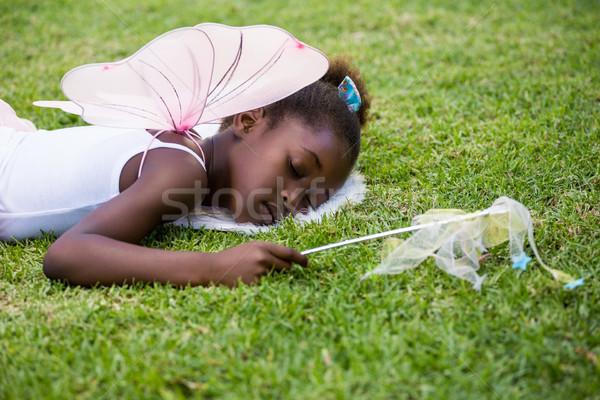 Bonitinho menina fadas vestir adormecido Foto stock © wavebreak_media