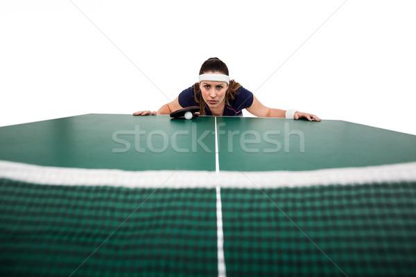 Vrouwelijke atleet tabel witte vrouw Stockfoto © wavebreak_media